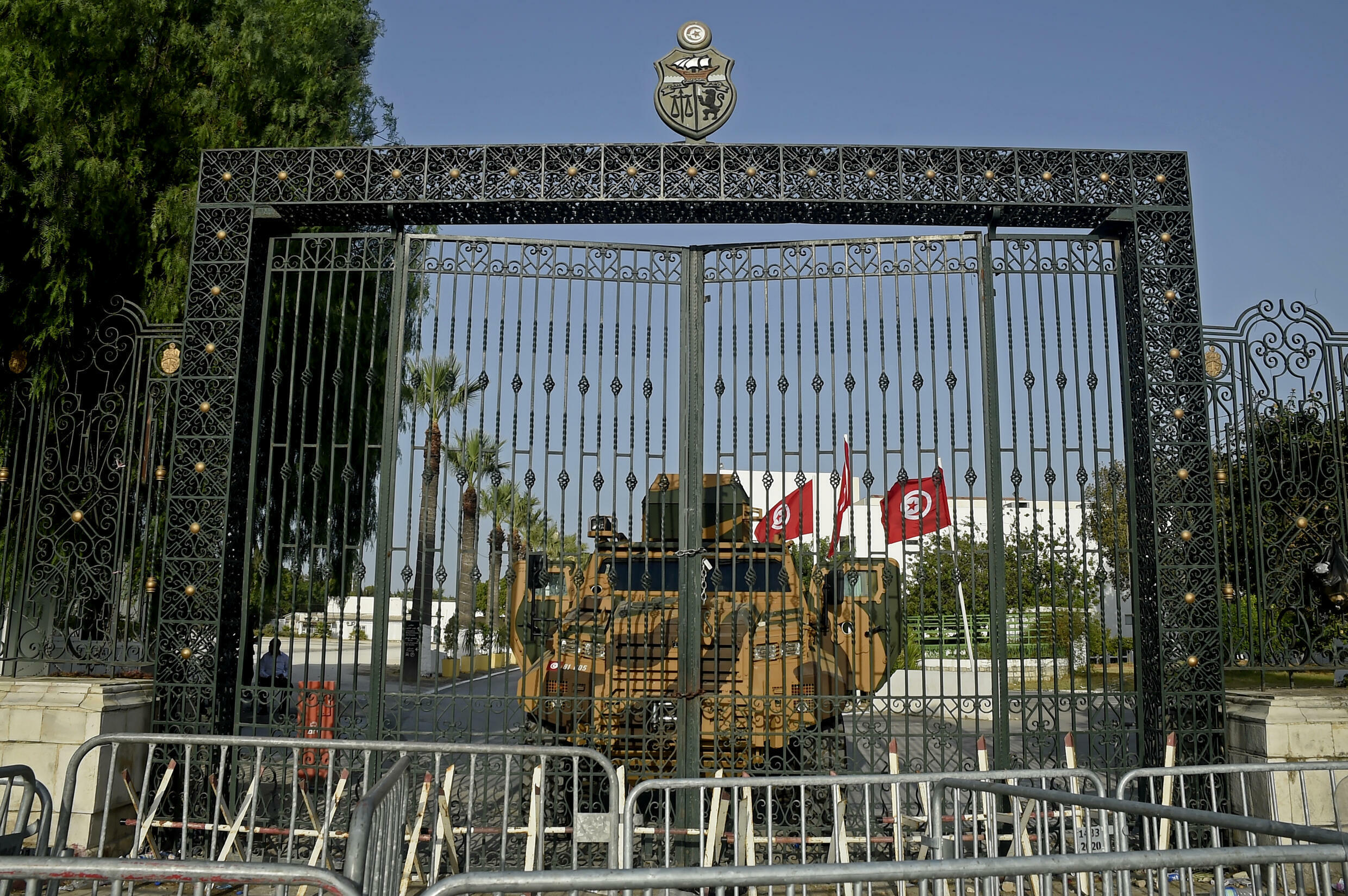 Tunisia's army barricaded the parliament building in the capital Tunis on July 26