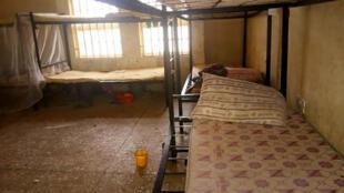 un dormitorio en común de la escuela de Jangede donde 317 adolescentes fueron secuestradas por hombres armados el 26 de febrero de 2021 en el noroeste de Nigeria
