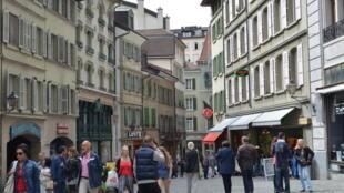 Centro da cidade de Lausanne, Suíça