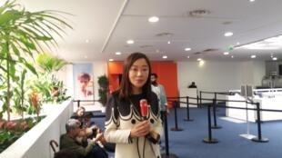上海新派系传媒文化有限公司的创始人唐丽君女士在戛纳电影节,2019年5月21日。