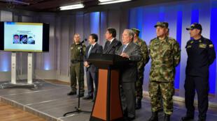Le ministre de la Défense colombien, Guillermo Botero, a dénoncé la guérilla de l'ELN comme étant derrière l'attentat qui a coûté la vie à plus de vingt élèves oficiers à Bogota jeudi 17 janvier 2018.