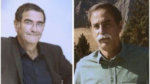 Les deux lauréats 2012 du prix Nobel de physique, le Français Serge Haroche (G) et l'Américain David Wineland.