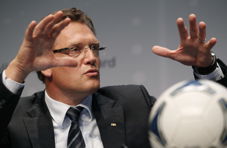 Jérôme Valcke, secretário-geral da Fifa, durante entrevista coletiva nessa quinta-feira.