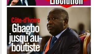 "Capa do jornal francês ""Libération"""