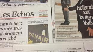 Primeiras páginas dos diários franceses de 3 de Outubro 2013