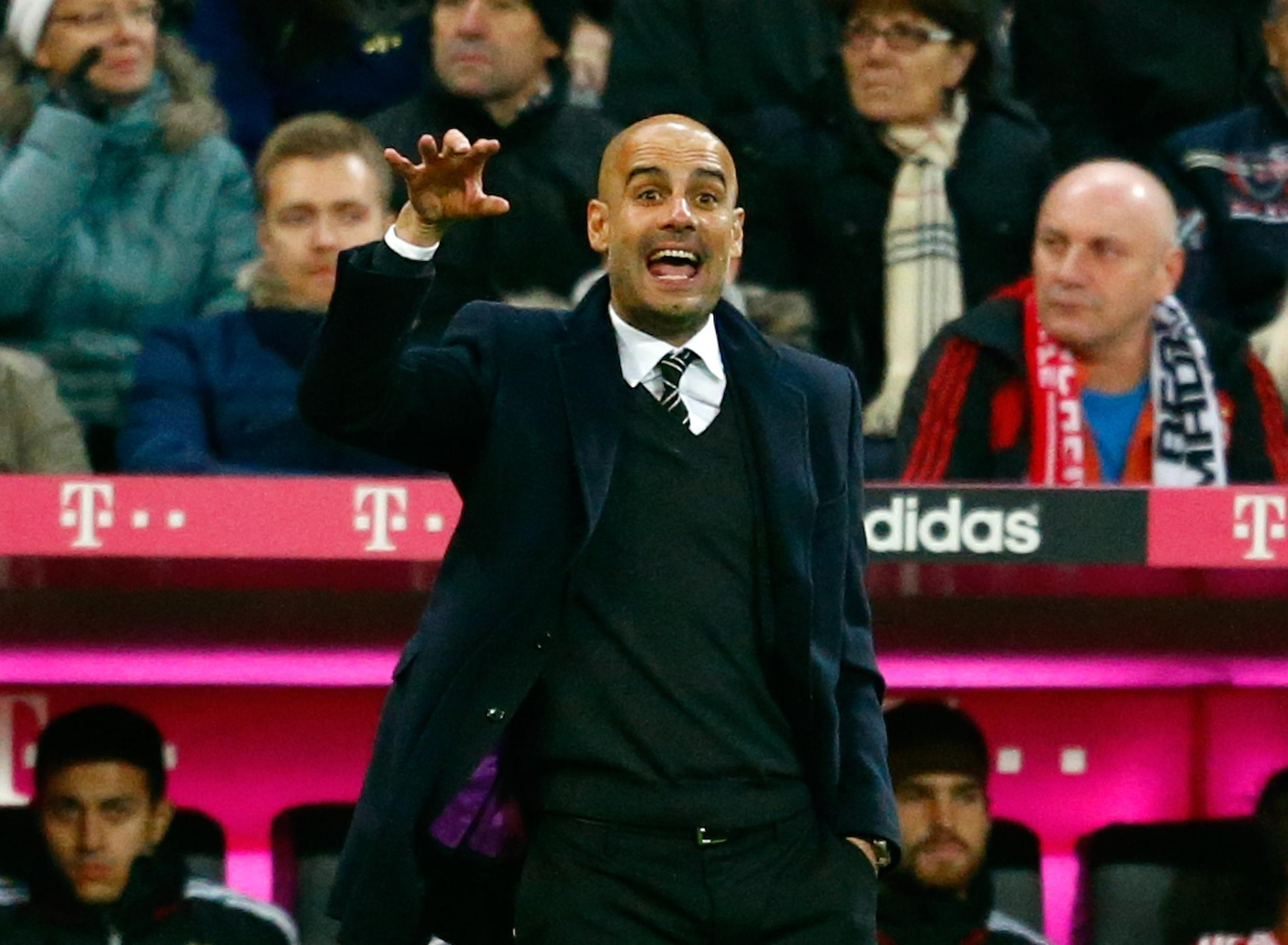 Pep Guardiola has won the Bundesliga title with Bayern Munich in his two seasons with the Bavarians