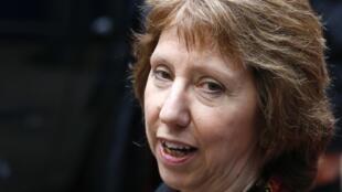 A alta representante da União Europeia para Negócios Estrangeiros e Política de Segurança, Catherine Ashton.