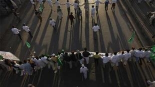 Supporters of the blasphemy law demonstrate in Karachi