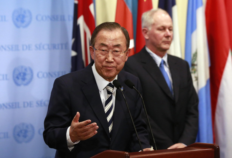 """O secretário-geral da ONU, Ban Ki-moon, disse que o ataque com gás sarin é um """"crime de guerra""""."""