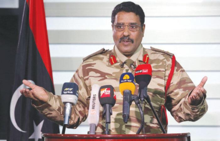 Le colonel Ahmad al-Mismari, le porte-parole de l'Armée nationale libyenne, le 26 mai 2017.