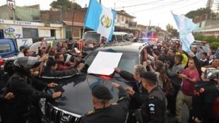 Masu zanga zanga a kasar Guatemala
