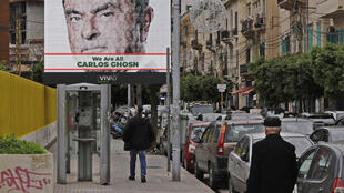 A billboard campaign in support of the businessman with the words «We are all Carlos Ghosn», in the streets of Beirut on December 6, 2018.
