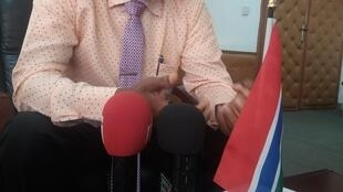 Gambia Minister of Information and Communication Demba A. Jawo in an interview with RFI Hausa Journalist