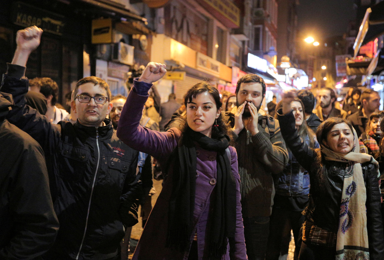 Акция протеста против расширений полномочий президента, Стамбул, 16 апреля 2017 г.