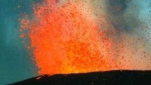 存檔圖片:火山熔岩