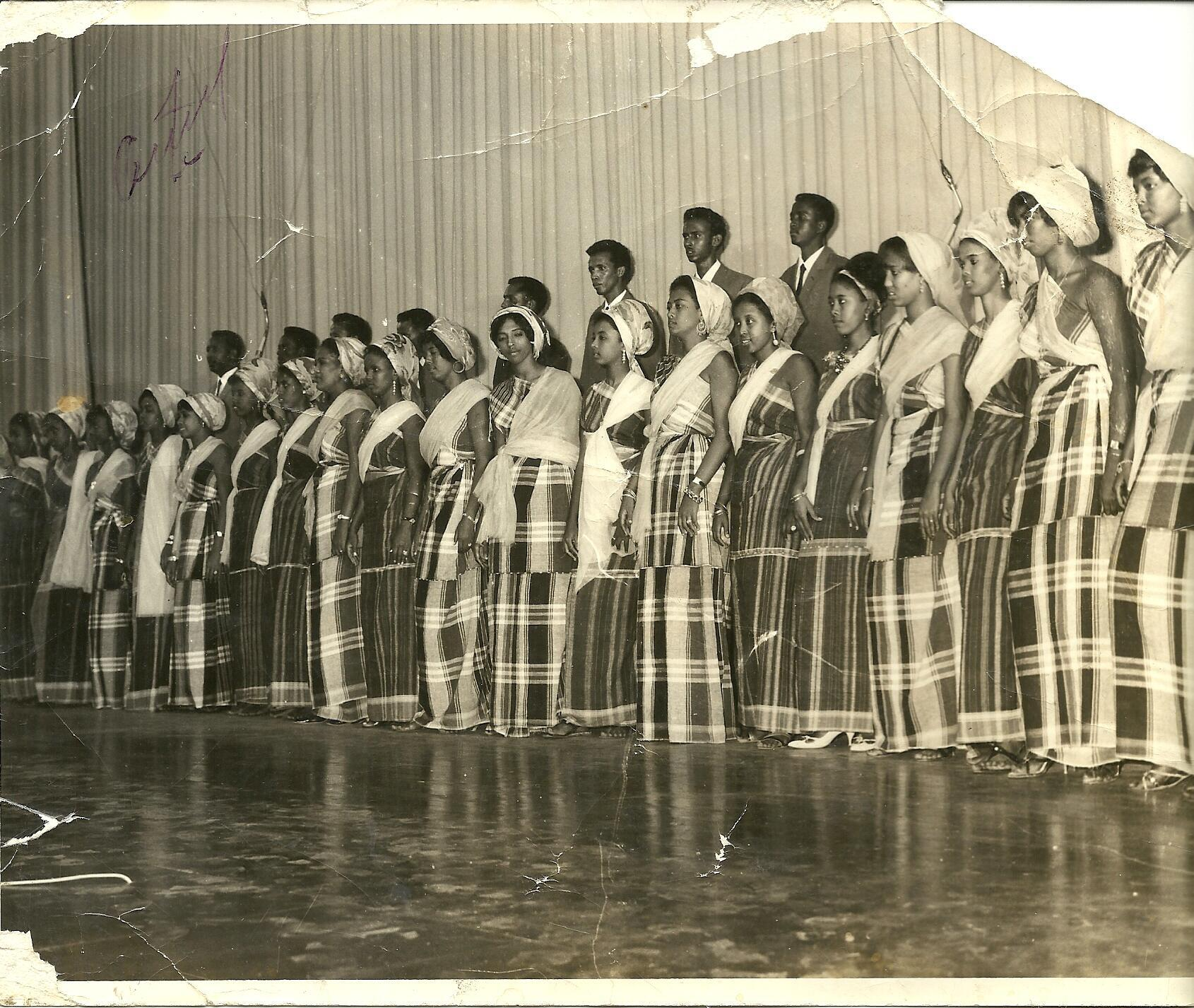 Waaberi troupe perform in Mogadishu in the 1970s