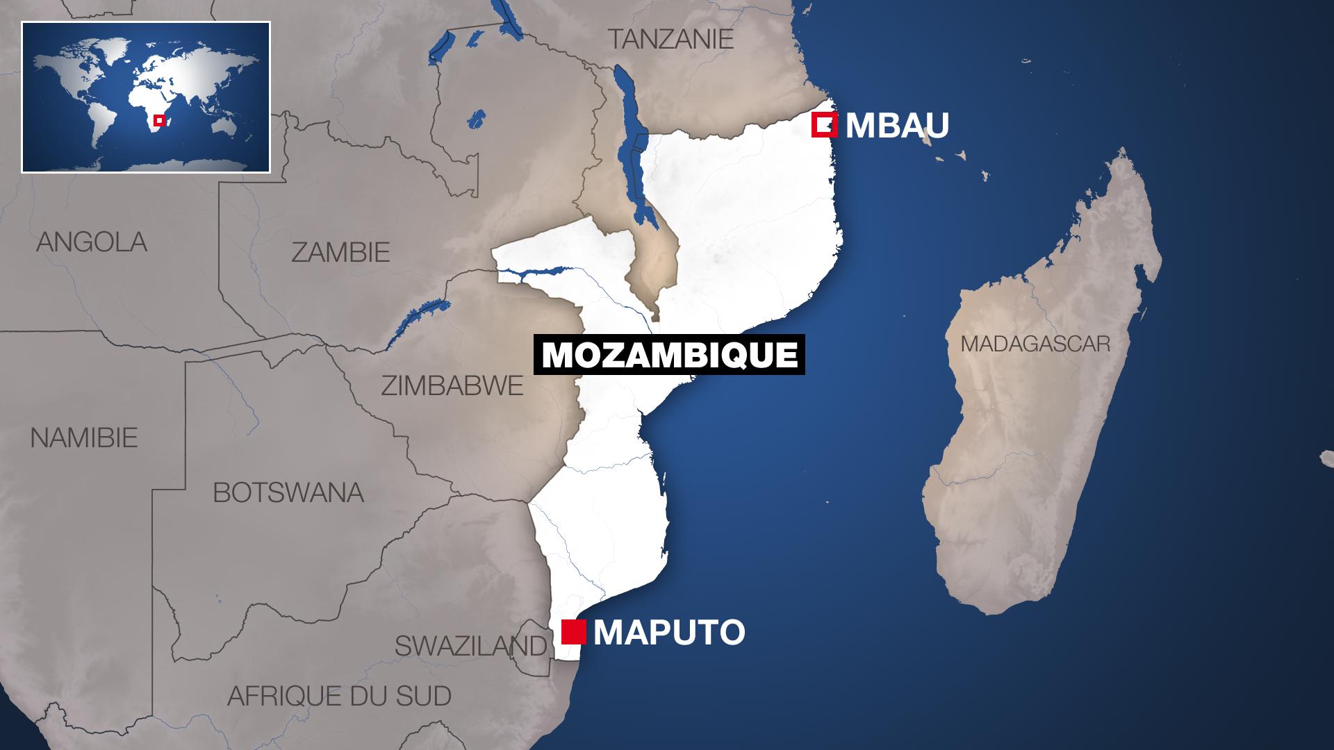 Ramani ya nchi ya Msumbiji