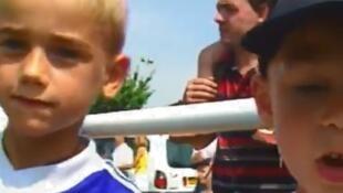 Antoine Griezmann, a los 7 años.