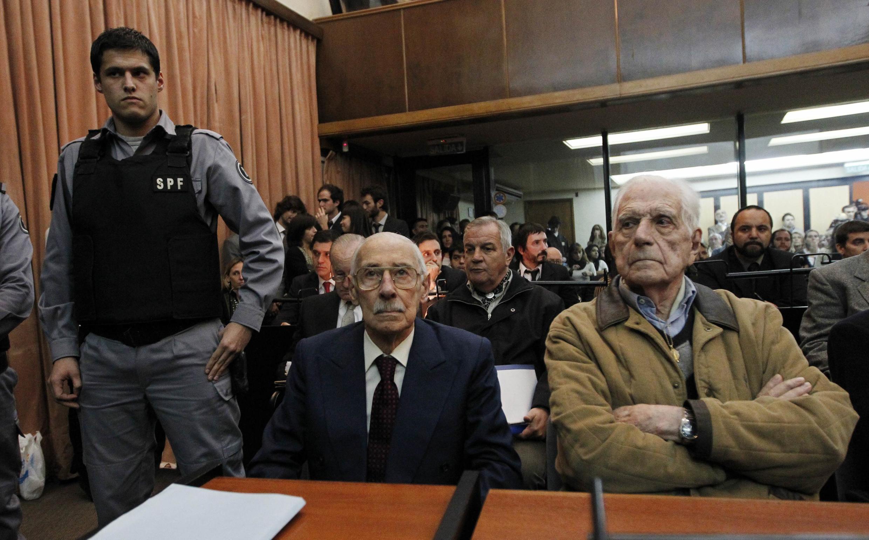 Rafael Videla e Reynaldo Bignoni ouvem a sentença na noite de quinta-feira,  de julho.