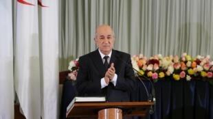 Le président algérien Abdelmadjid Tebboune, le 19 décembre 2019.