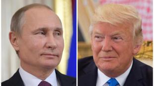 Vladimir Poutine et Donald Trump.