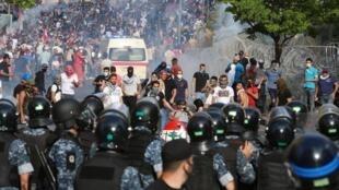 Centre de Beyrouth, le 6 juin 2020. Dès l'assouplissement du confinement, la contestation populaire contre le pouvoir a repris.