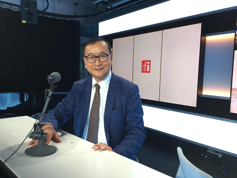 Cựu lãnh đạo đối lập Cam Bốt, Sam Rainsy.