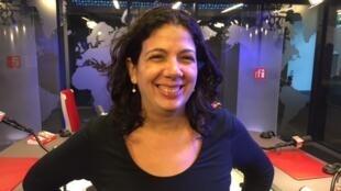 A jornalista e escritora Lamia Oualalou