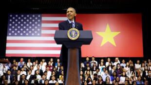 Tổng thống Mỹ Barack Obama với giới trẻ Sài Gòn, ngày 25/05/2015.