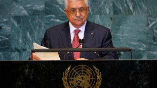 Le président palestinien Mahmoud Abbas à la tribune des Nations unies à New York, le 25 septembre 2010.