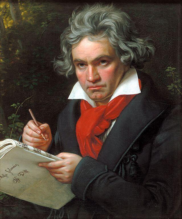 Ảnh chân dung Ludwig van Beethoven của họa sĩ Joseph Karl Stieler, năm 1820.