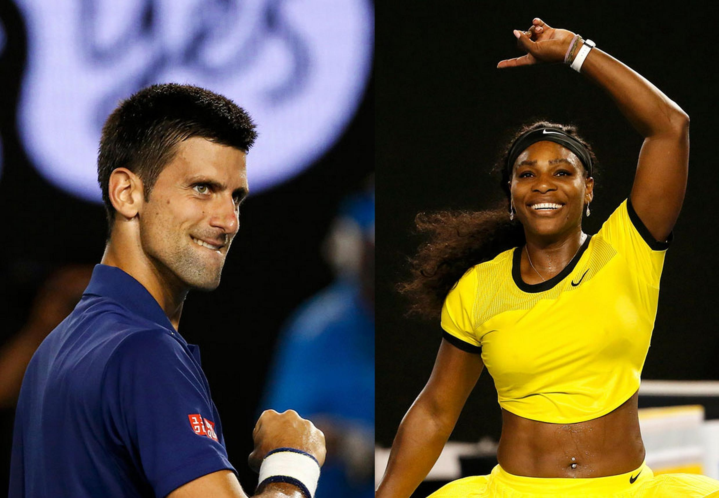 Novak Djokovic will play in the men's final at Indian Wells. Serena Williams will contest the women's final against Victoria Azarenka.