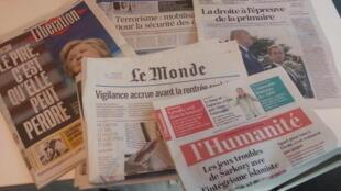 Jornais nacionais franceses de  24/08/16