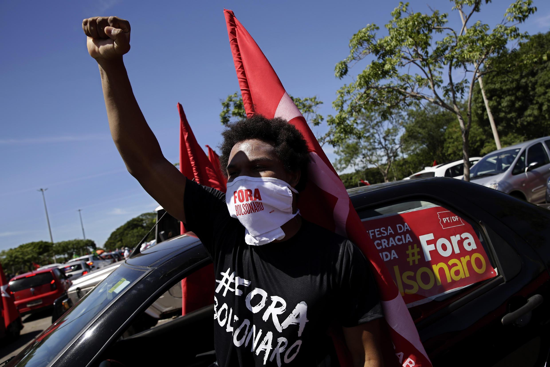 Brésil - manif contre président Bolsonaro