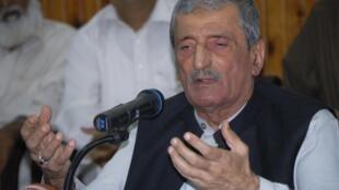 Ghulam Ahmad Bilour, le ministre pakistanais des Chemins de fer, à Peshawar, le 22 septembre 2012.