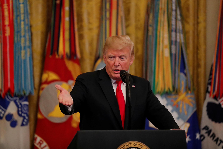 Iran nằm trong tầm ngắm của tổng thống Mỹ Danald Trump tại khóa họp Đại Hội Đồng Liên Hiệp Quốc 2018. Ảnh minh họa : TT Trump tại Nhà Trắng, ngày 12/09/2018.