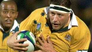 Phil Kearns in action during the 1999 Rugby World Cup, which the Wallabies won