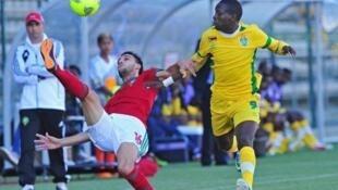 Maroc-Zimbabwe lors du CHAN 2014.