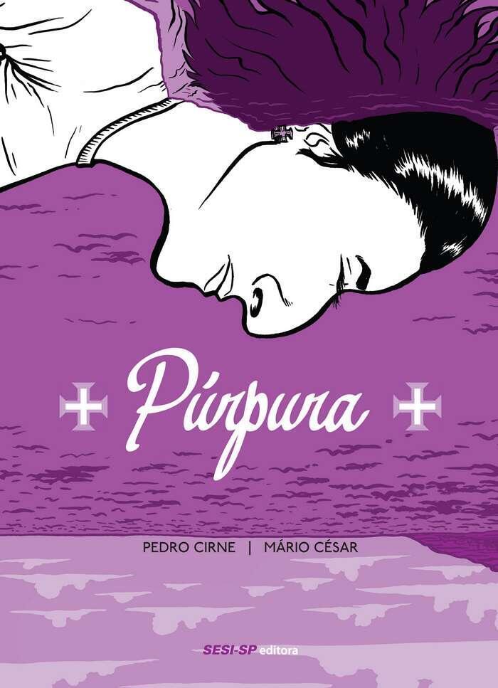 """Capa do livro """"Púrpura"""", de Pedro Cirne e Mário César"""