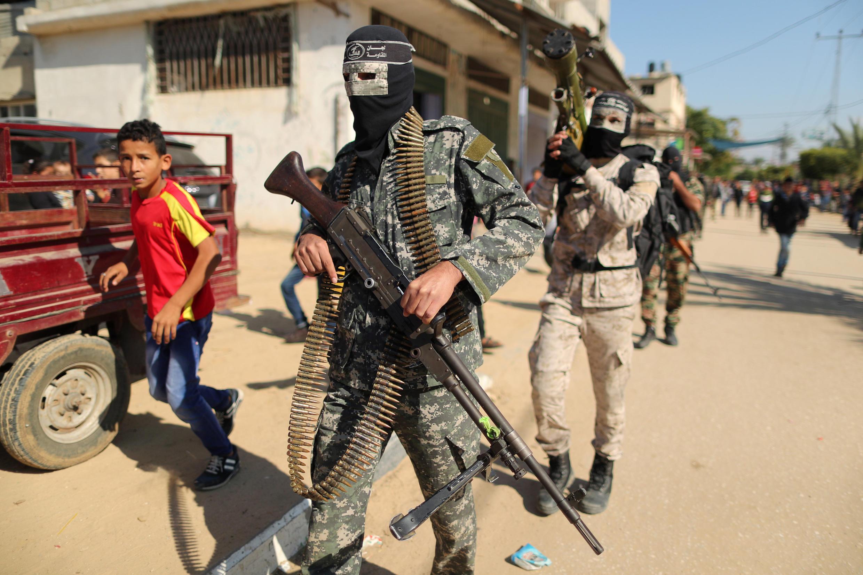 نیروهای نظامی حماس در نوار غزه