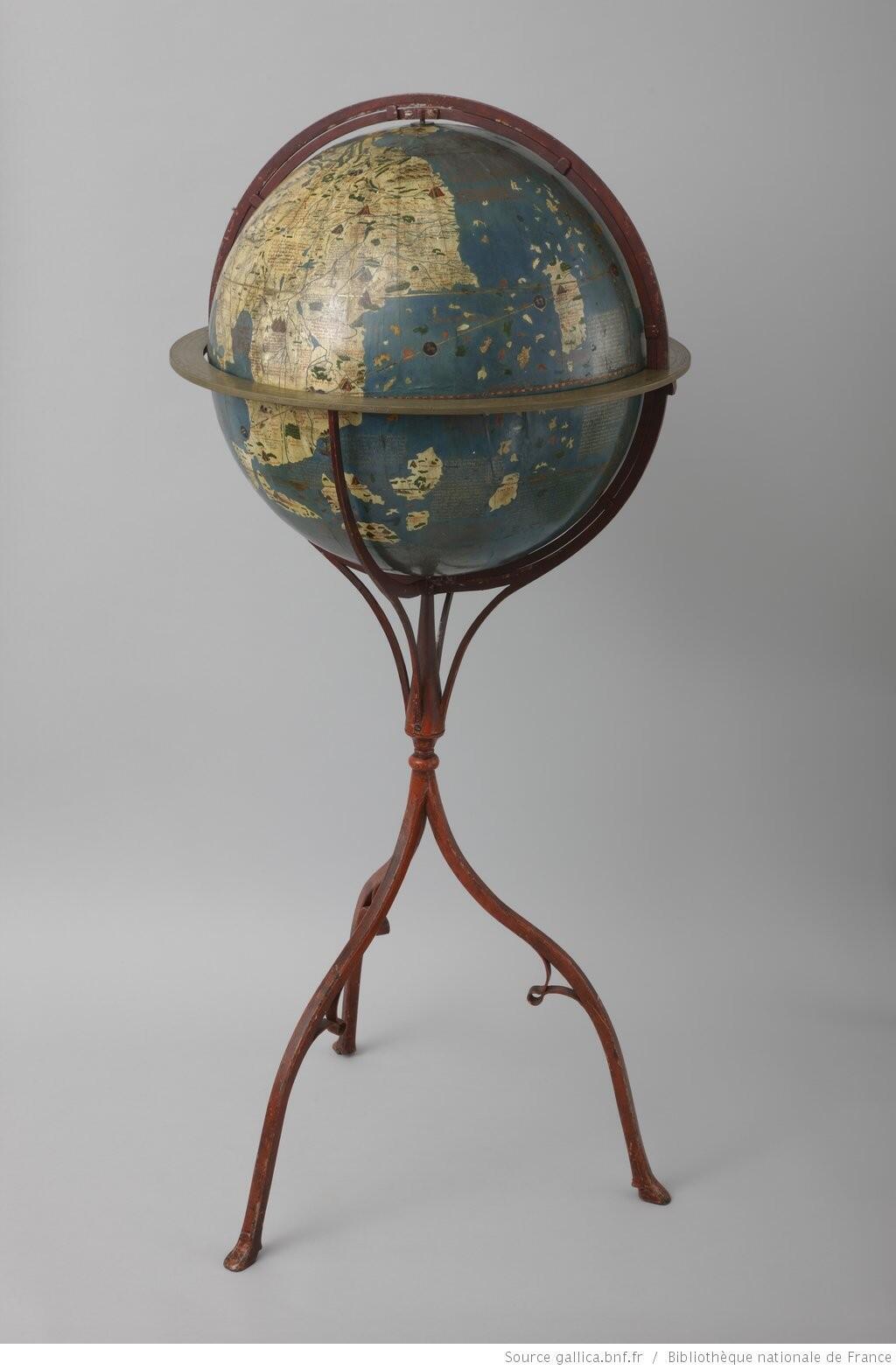 Глобус Мартина Бенхайма, 1492 год.