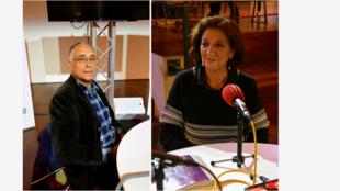 La journaliste et essayiste algérienne Ghania Mouffok, et le sociologue politologue tunisien Mohamed Kerrou.