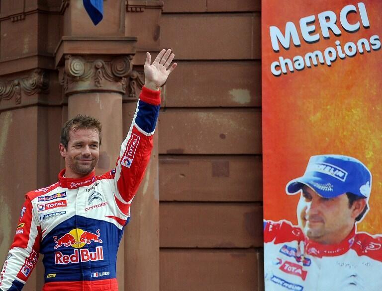Sébastien Loeb, campeón del rally mundial, este 7 de octubre de 2012.