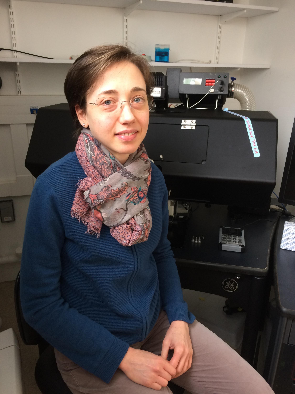Giulia Manina in her laboratory, Institut de Pasteur in Paris, May 9 2019
