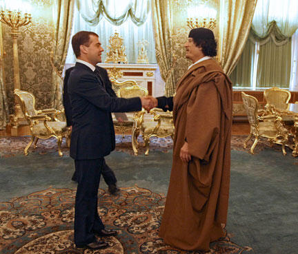 Nothing is forever - Kadhafi and Medvedev in Moscow 2008