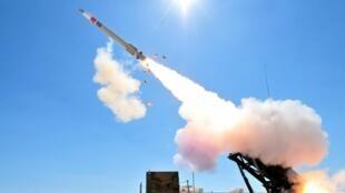 """美國""""愛國者-3"""" 防空導彈資料圖片"""