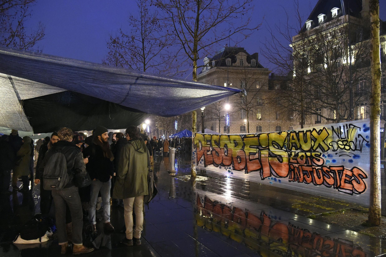 «Nuit debout», Paris, le 2 avril 2016.