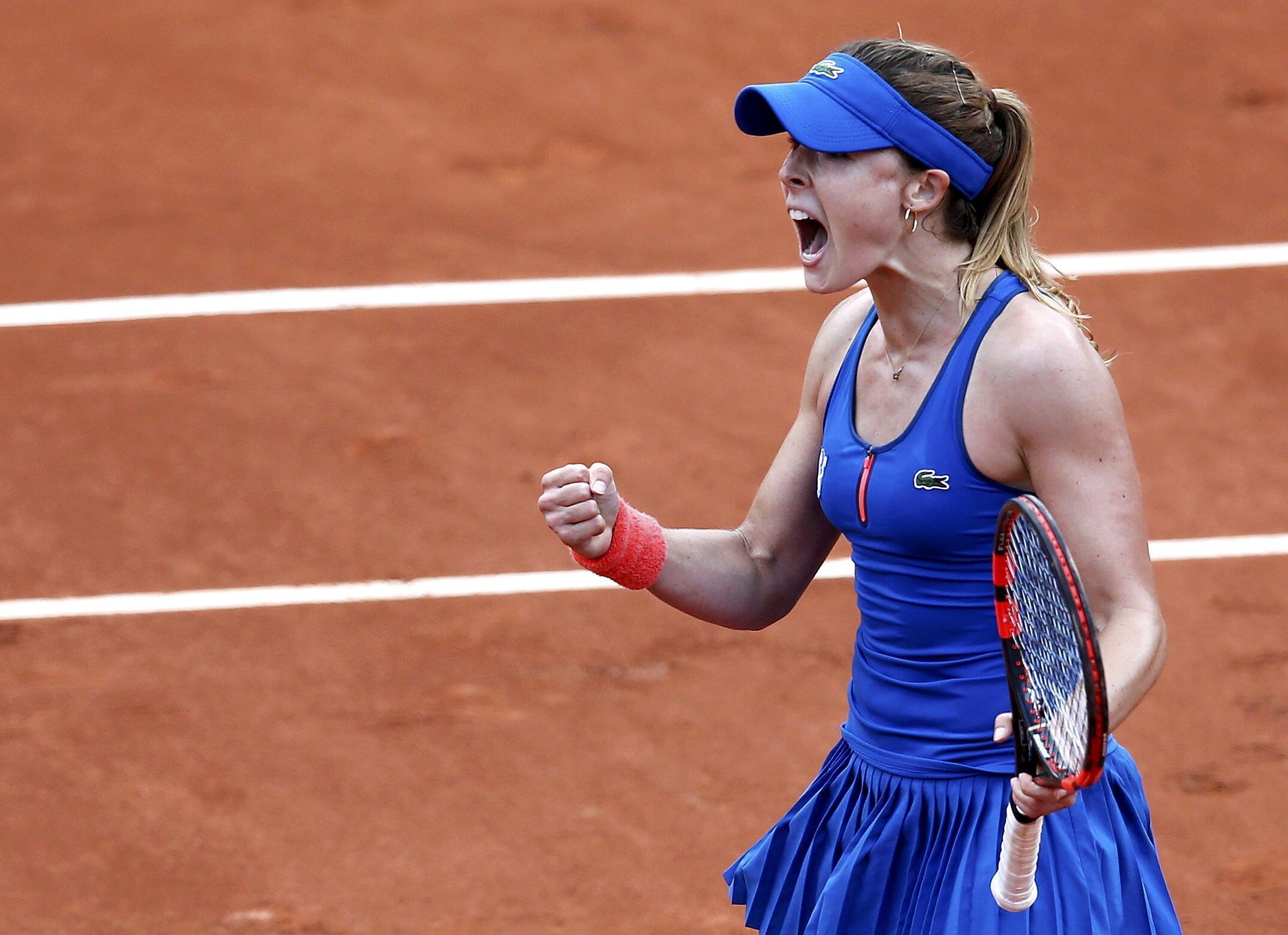 France's Alizé Cornet triumphs over  Roberta Vinci of Italy