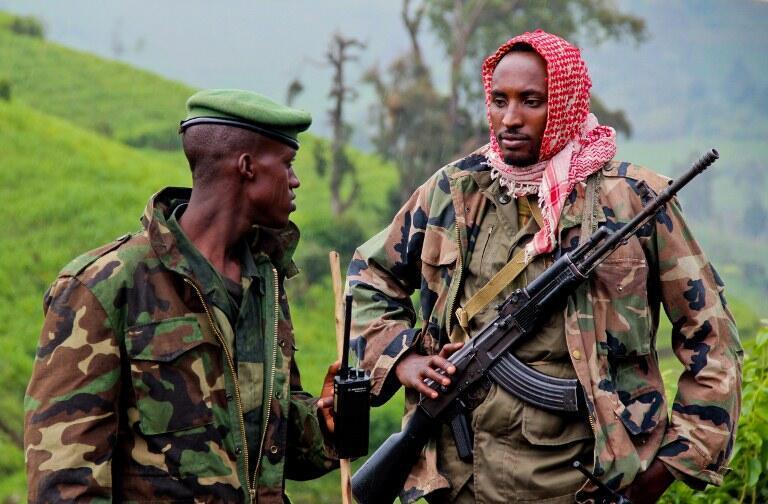 Des rebelles du M23 à Kavumu, dans le Nord-Kivu, le 3 juin 2012.