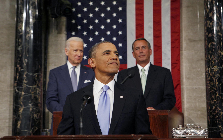 Tổng thống Mỹ Barack Obama nhân buổi đọc Diễn văn về Tình hình Liên bang tại Quốc hội Hoa Kỳ ngày 28/01/2014.